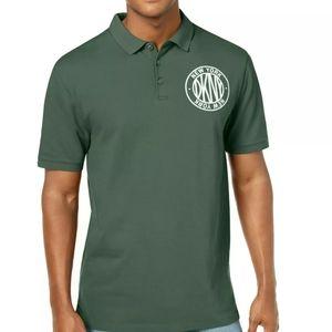 New DKNY army green polo shirt